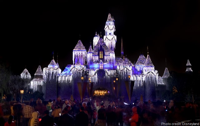 Sleeping Beauty Castle Disneyland Holiday