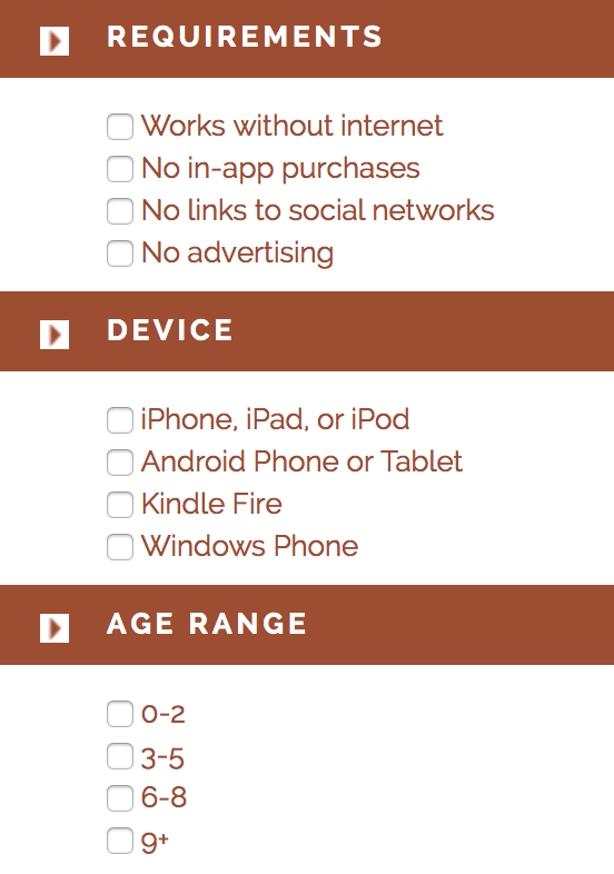 Mom With Apps - app requirements