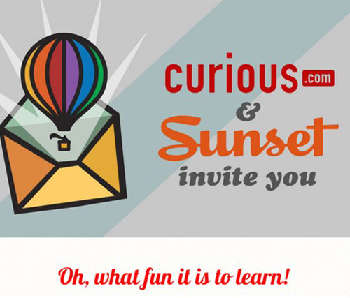 Curious.com Sunset #GiftofLearning