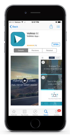 VidMob app video editing