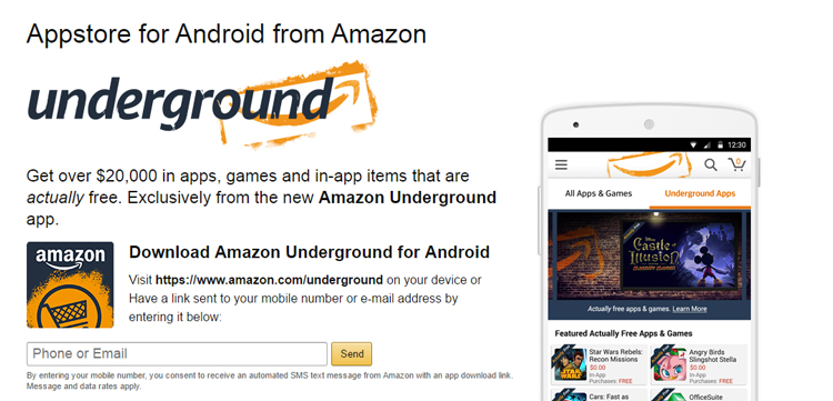 Amazon Appstore Underground